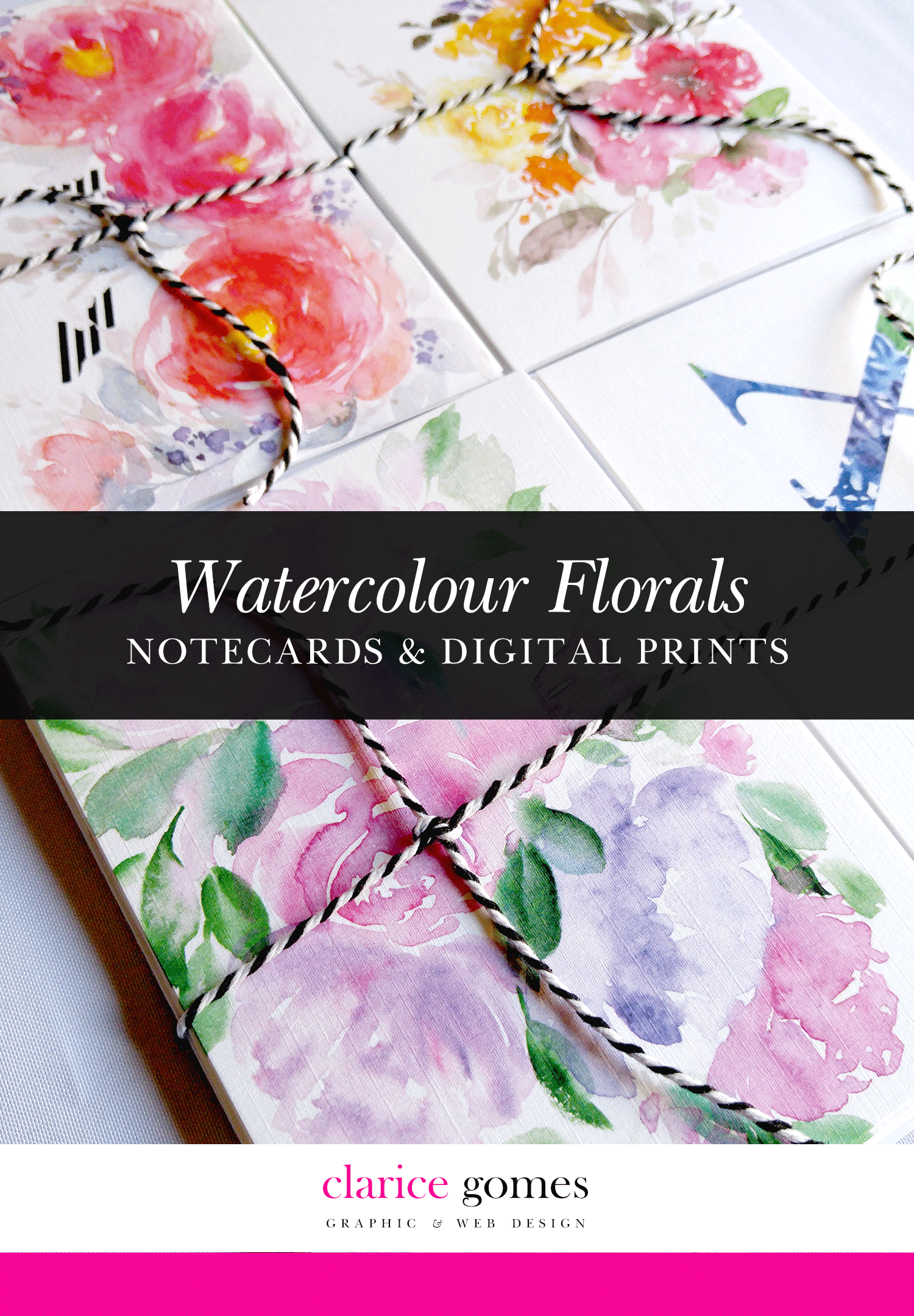clarice gomes watercolour florals